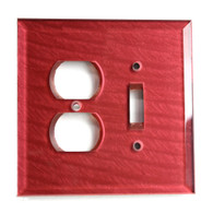Ruby Glass Duplex Outlet Toggle Switch Cover