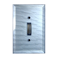 Light Sapphire Glass Single Toggle Switch Cover