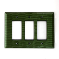 Emerald Glass Triple Decora Rocker Switch Cover