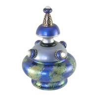 Banister Finial Merlin in Light Sapphire and Lapis Blue