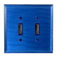 Lapis Glass Double Toggle Switch Cover