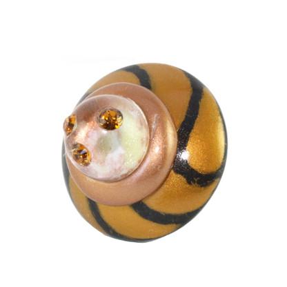 Congo Light knob deep gold IRR 2 in diameter with topaz crystals
