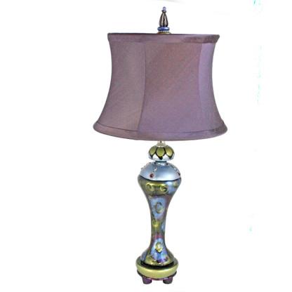 Seaside Sandy Plum Accent lamp with Drum shade Sugar Plum