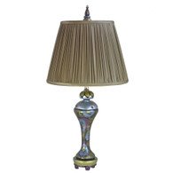 Seaside Sandy Accent lamp with pleated taffeta shade in ash beige