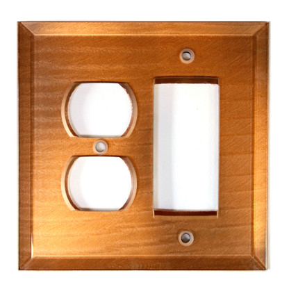Amber glass duplex outlet decora switch cover