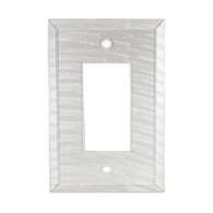 Pearl White Glass Single Decora Switch Cover