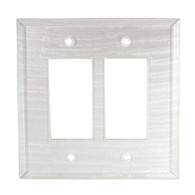 Pearl White Glass Double Decora Switch Cover