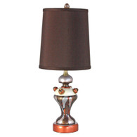 Coco Accent lamp with hardback cylinder shade in silk Chocolate