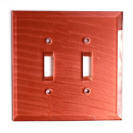 Coral Glass Double Toggle Switch Cover