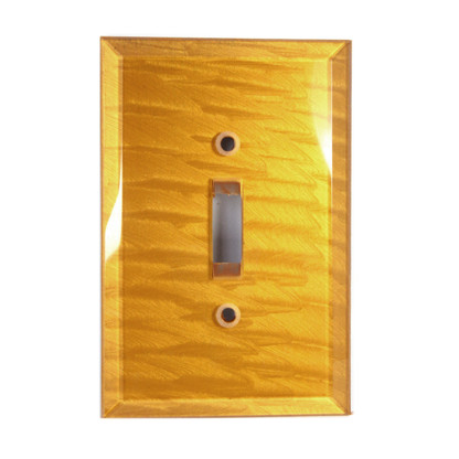 Deep Gold Glass Single Toggle Switch Cover