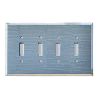 Light Sapphire Glass quad toggle switch cover