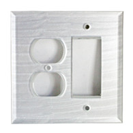 Pearl White Glass Duplex Outlet Decora Switch Cover