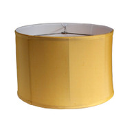 Silk Lamp Shade Shallow Drum in Gold