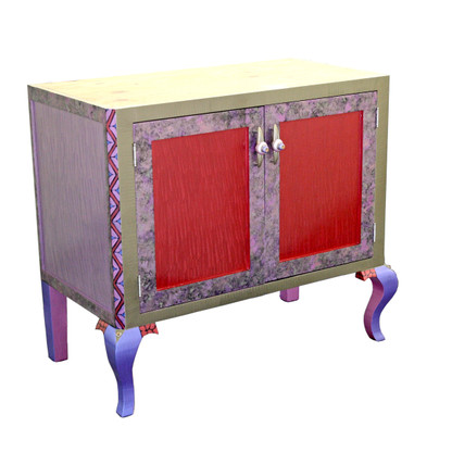 Charisma Vanity Sink Cabinet in Ruby and Mauve paint finish