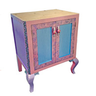Charisma Vanity Sink Cabinet in Blue and Lavender Paint Finish