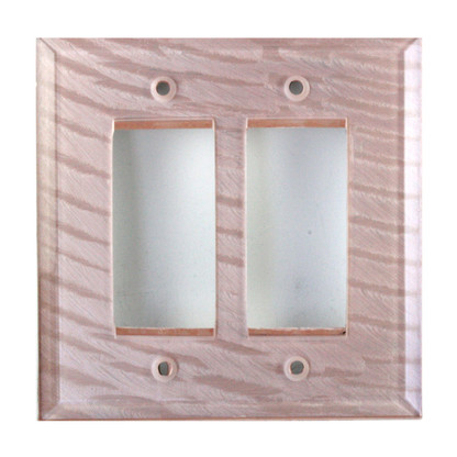 Light Bronze Glass Double Decora Switch Cover