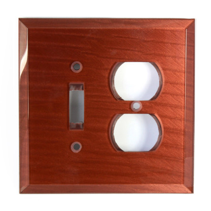 Agate Glass Duplex outlet Toggle Switch cover
