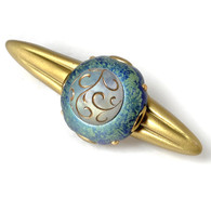 Lulabelle Turquoise orbit Pull 5.25 Inches with 4 Inch hole  span