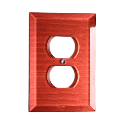 Coral Glass Single Duplex Outlet Cover