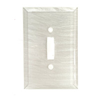 Pearl White Glass Single Toggle Switch Cover