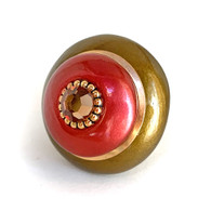 Mini Style 10 Knob Sunset Gold  2 In.