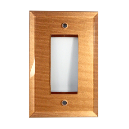 Amber Glass single decora switch cover