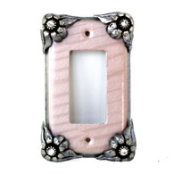 Lily Decora Switch Cover with silver metal details and crystal