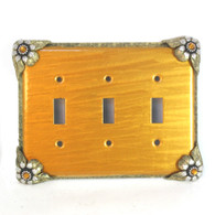Bloomer Sunflower Triple Toggle Switch Cover