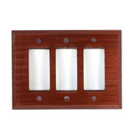 Agate Glass Triple Decora Switch Plate