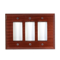 Agate Glass Triple Decora Switch Plate