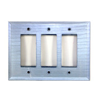 Light Sapphire Glass Triple Decora Switch Cover