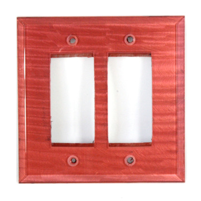 Coral glass Double Decora Switch Cover