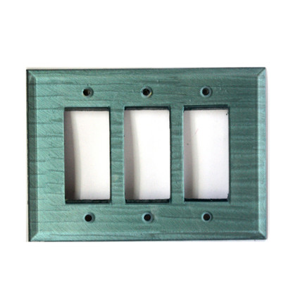 Aqua Glass Triple Decora Switch Cover