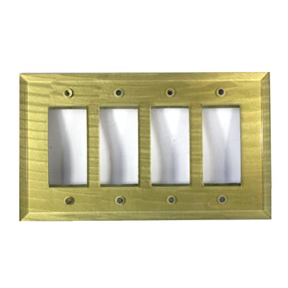 Jade Glass Quad Decora Switch Cover