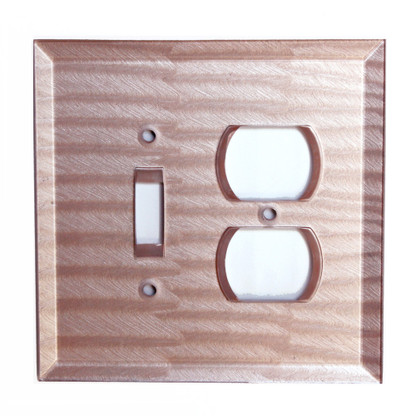 Light Bronze Glass Duplex Outlet toggle switch cover