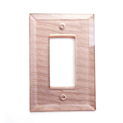 Light Bronze Glass Single Decora Switch Cover