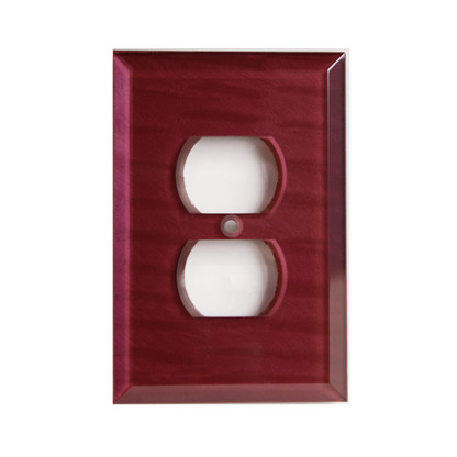 Garnet Glass Single Duplex Outlet