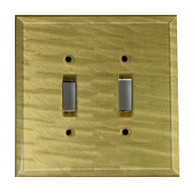 Jade Glass Double Toggle Switch Cover