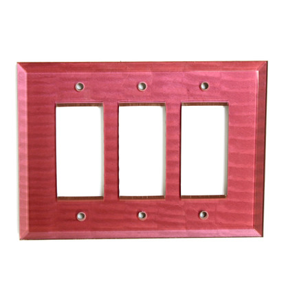 Ruby Glass Triple Decora Switch Cover