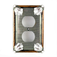 Cleo Deep Opal Single Duplex Outlet Cover