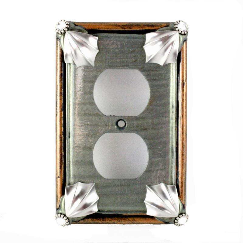 f1b95c861 Cleo Deep Opal Single Duplex Outlet Cover - Susan Goldstick