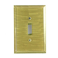 Jade Glass Single Toggle Switch Cover