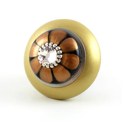 Mini Tiki Knob Light Gold 2 in diameter