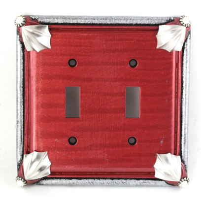 Cleo Double Toggle Switch Cover Ruby