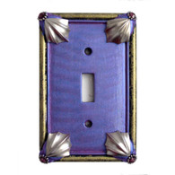 cleo single toggle switch cover periwinkle