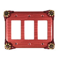 bloomer poppy triple decora switch cover