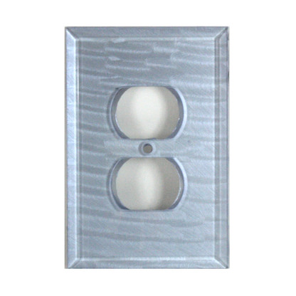 Light Sapphire Glass Single Duplex Outlet Cover