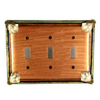 Cleo Amber Triple Toggle Switch Cover