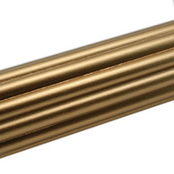 Reeded Rod 2 inch diameter in gold paint finish