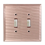 Light Bronze Glass Double Toggle Switch Cover